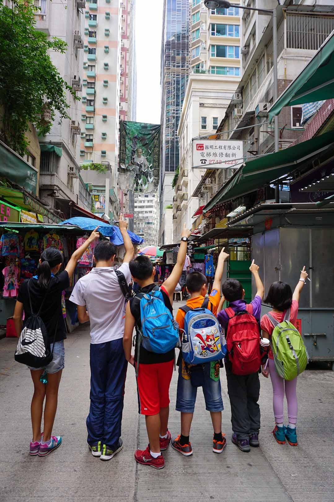 趙永佳:「優學年」計劃的重點活動,就是讓他們走訪香港各社區,發掘它們的特色和趣點。照片由趙永佳提供