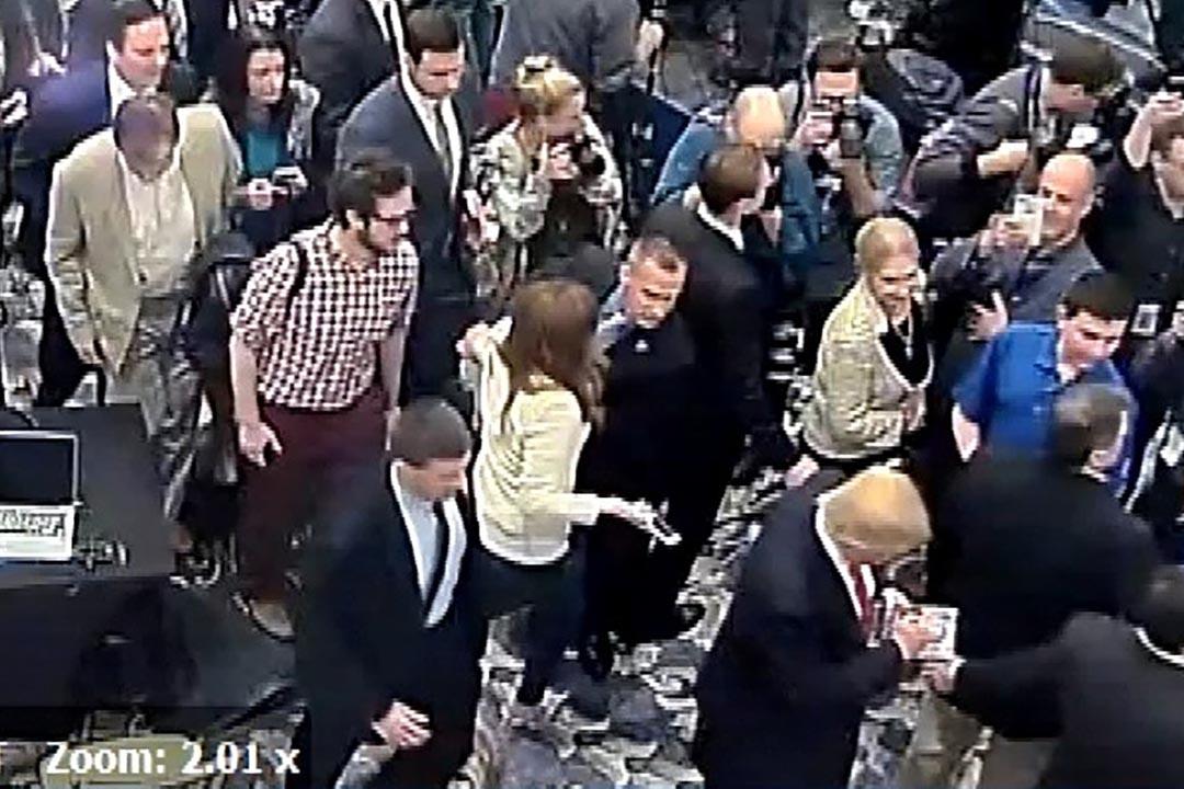 美國共和黨總統參選人特朗普(Donald Trump)的競選經理利雲度夫斯基(Corey Lewandowski)因涉嫌拉扯一名女記者,被控一項普通襲擊罪。攝:Jupiter Police Department/Handout via Reuters