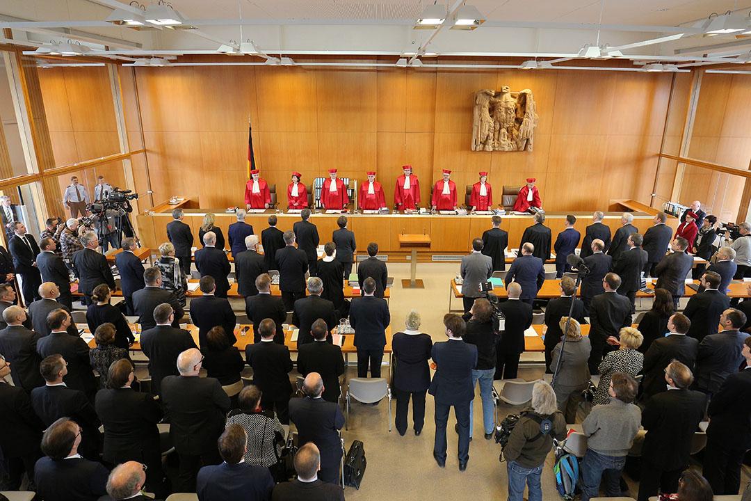2016年3月1日,德國,德國聯邦憲法法院處理新納粹政黨「德國國家民主黨」涉嫌違憲的案件。攝:GETTY