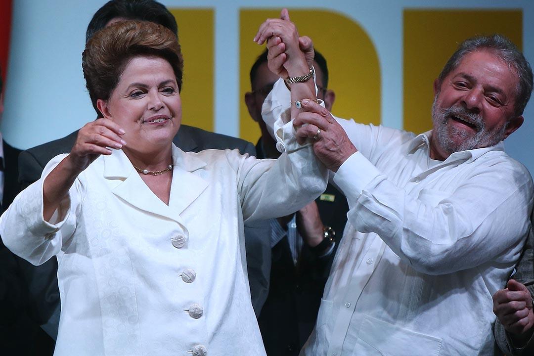 巴西前總統盧拉(Lula da Silva)(右)將出任現任總統羅塞芙(Dilma Rousseff)的幕僚長。攝:Mario Tama/Getty