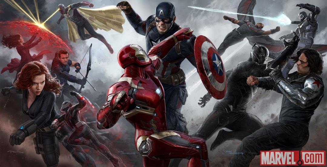 漫威娛樂(Marvel)製作的電影《美國隊長3:英雄內戰》宣傳海報。Marvel Entertainment 圖片