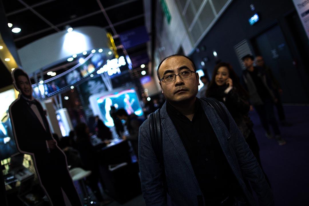2016年3月15日,魏君子在香港國際影視展(Filmart)上。攝:盧翊銘/端傳媒