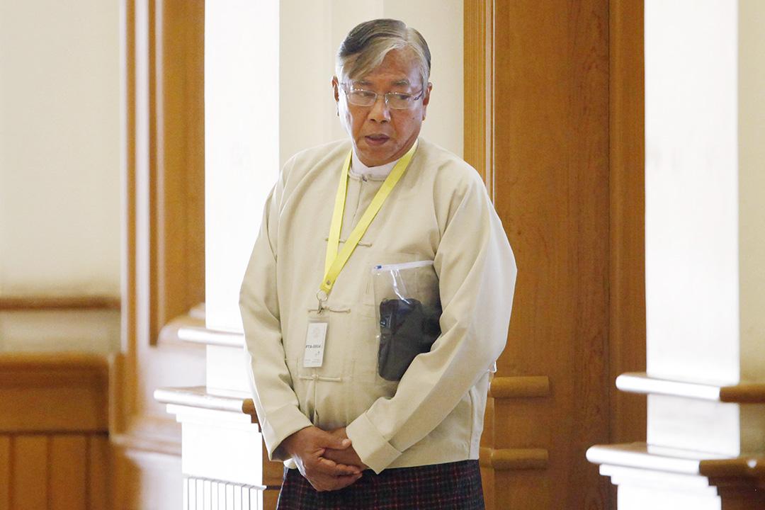 2016年3月15日,廷覺當選為新一任緬甸總統。攝:Aung Shine Oo/AP