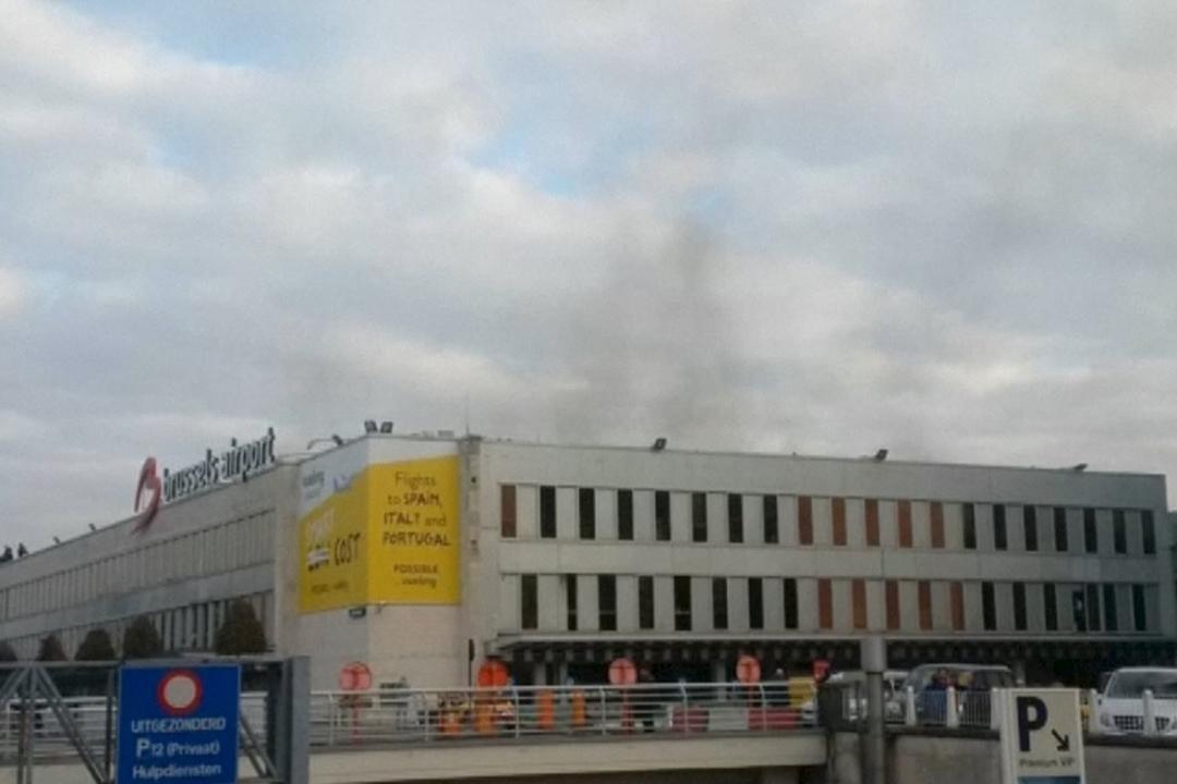 比利時布魯塞爾機場發生爆炸。攝:Peter van Rossum via Reuters TV