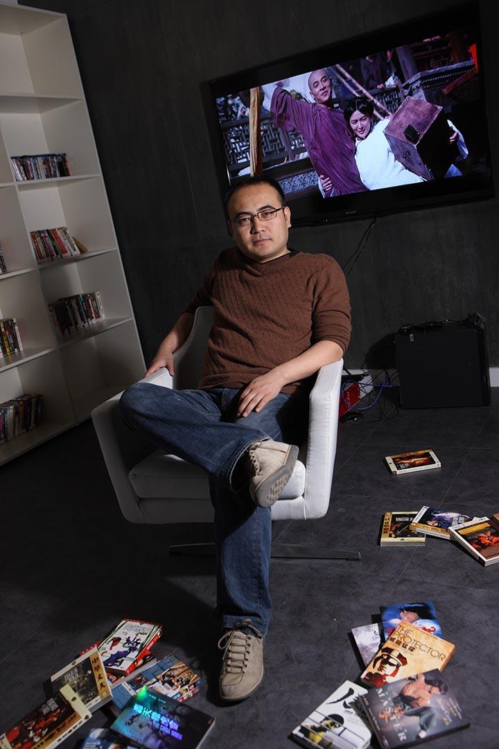 魏君子在自己的工作室裏。圖片由魏君子提供