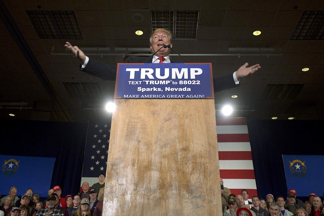 美國共和黨總統參選人特朗普。攝: James Glover/REUTERS