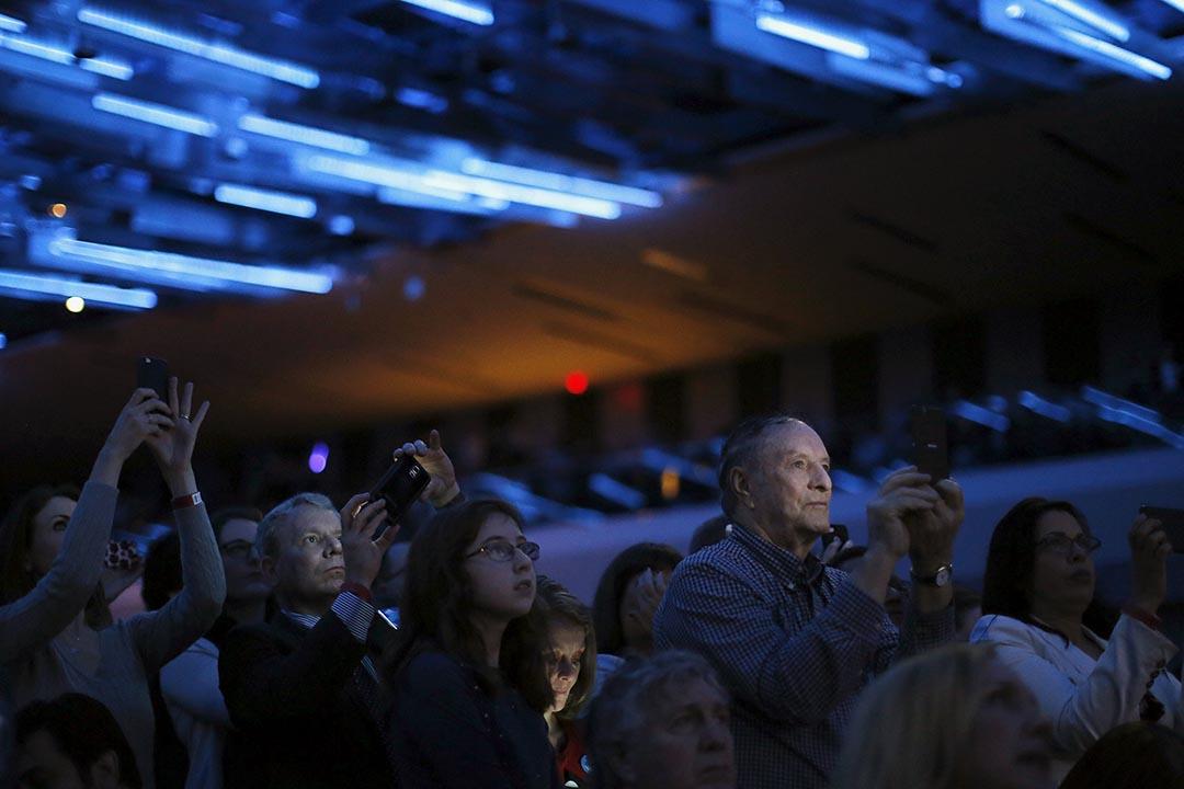 俄亥俄州的一個競選晚會。攝 : Carlos Barria/REUTERS