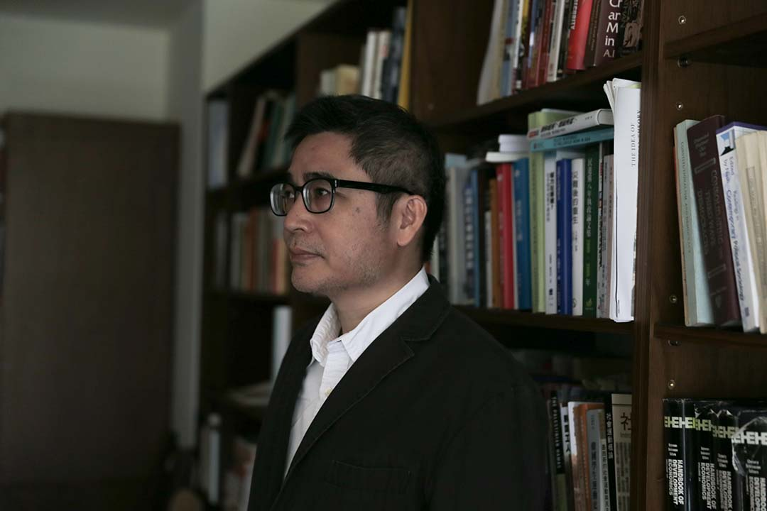 台灣中央研究院社會學研究所副研究員吳介民。攝:徐翌全/端傳媒