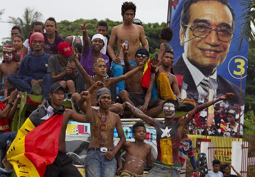 東帝汶於2012年舉行自獨立以來第三次選舉。圖:Paula Bronstein/Getty Images