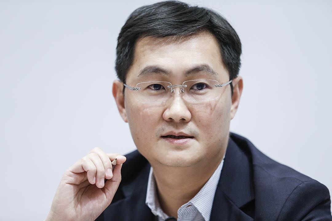 騰訊公司董事會主席兼首席執行官馬化騰。攝:Lintao Zhang/Getty