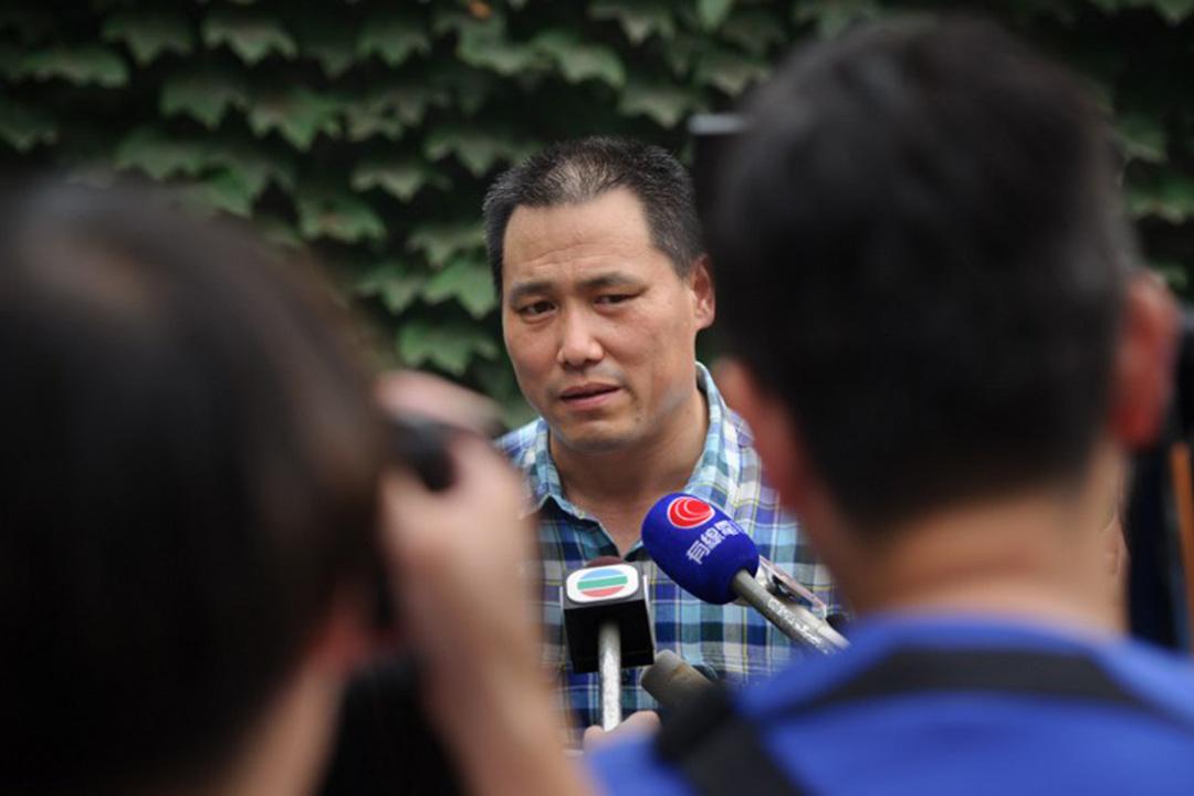 中國維權律師浦志強自4月14日被吊銷律師執照。攝:ED JONES/AFP