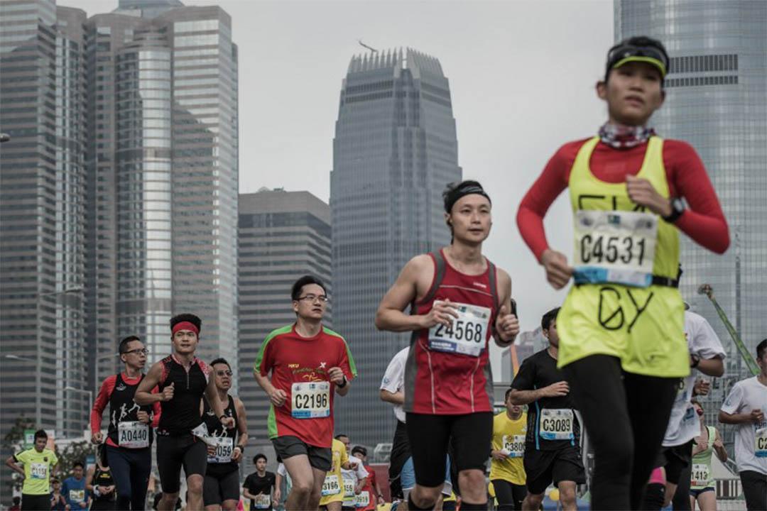 香港渣打馬拉松賽。攝:Philippe Lopez / AFP