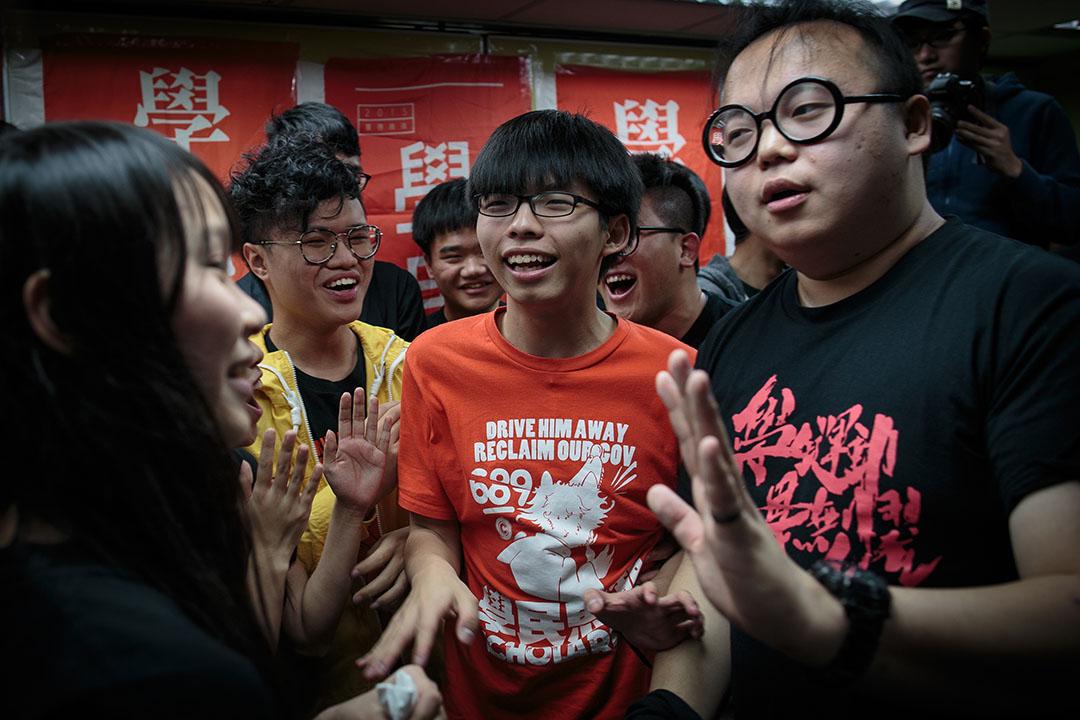 2016年3月20日,「學民思潮」宣布停止運作。攝:吳煒豪/端傳媒