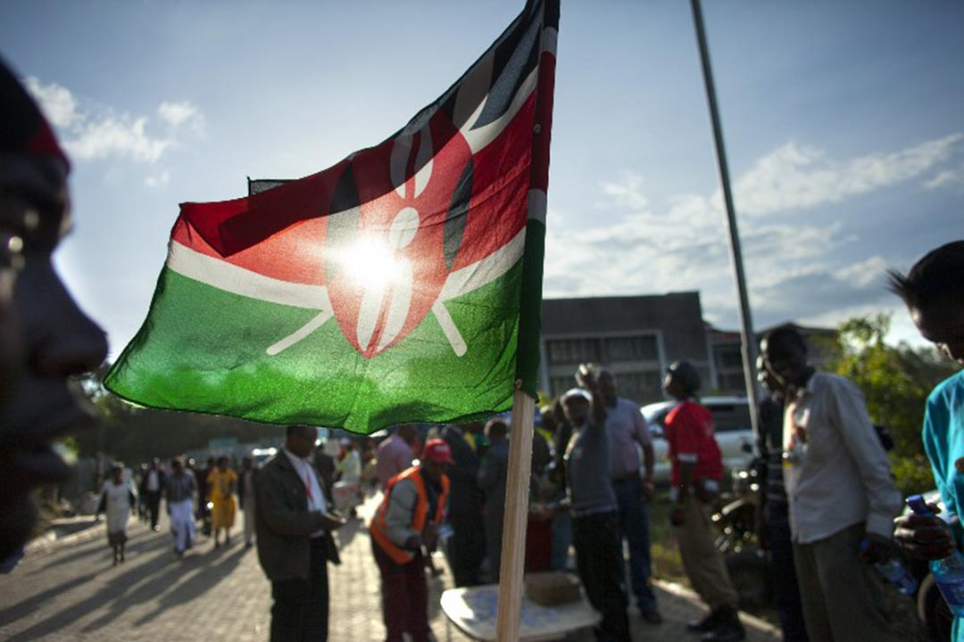 多名台灣人在肯尼亞犯案後被遣返回中國大陸,引發台灣方面強烈抗議。圖為肯尼亞國旗。攝:GEORGINA GOODWIN / AFP