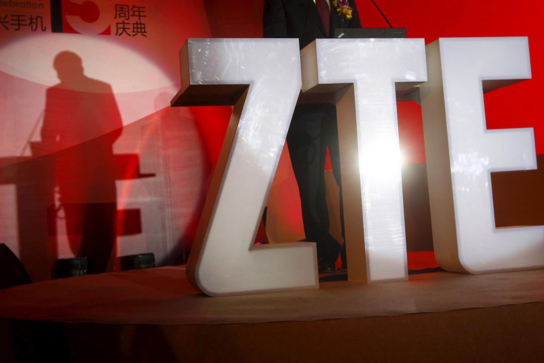 4月5日,中國電信設備製造商中興通訊宣布了高層人士變動,趙先明將擔任公司總裁和董事長。攝:Barry Huang/REUTERS