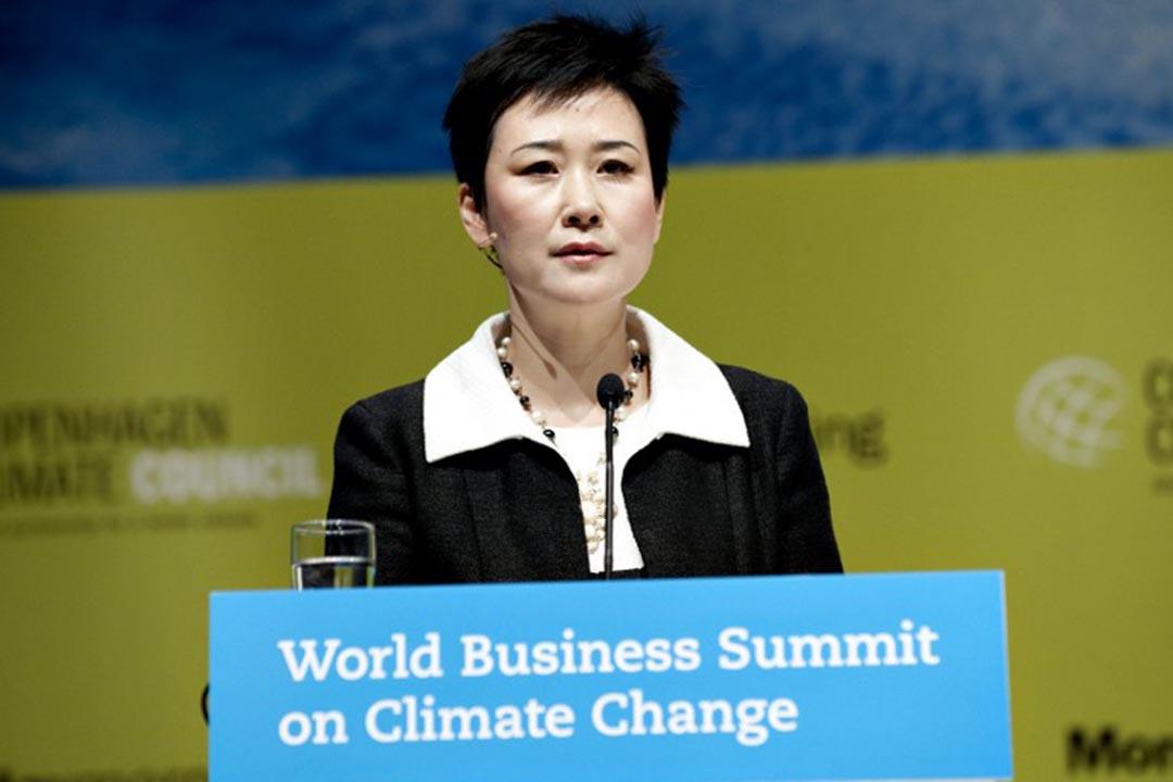 前中國國務院總理李鵬之女李小琳。攝:KELD NAVNTOFT / SCANPIX DENMARK / AFP