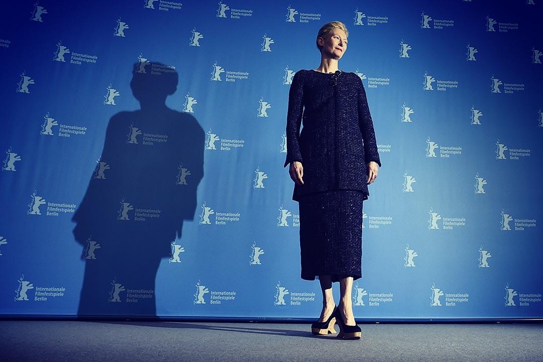 英國白人演員蒂達·史雲頓(Tilda Swinton),在漫威新片《奇異博士》中飾演漫畫原著裏地藏人「古一」。攝:Pascal Le Segretain/Getty