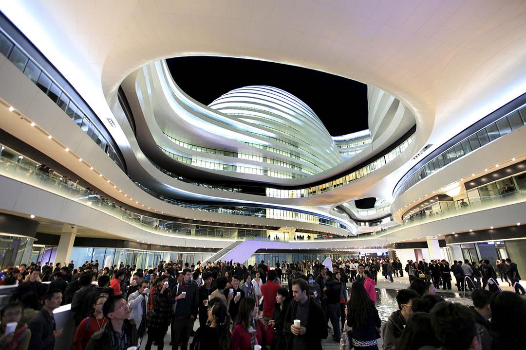 圖為薩哈•哈帝設計的北京銀河 SOHO。攝:Jason Lee/REUTERS
