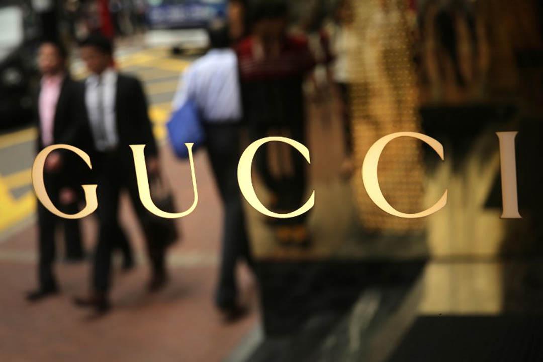 Gucci 要求香港殯葬商店停止出售該品牌手袋的紙質版祭品。攝:ISAAC LAWRENCE/AFP