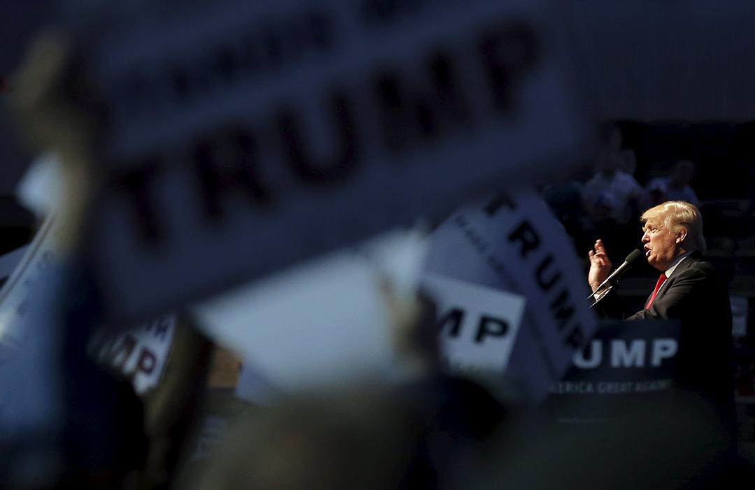 美國共和黨總統參選人特朗普日前發表了關於外交政策的主題演講。攝:Jim Young/REUTERS