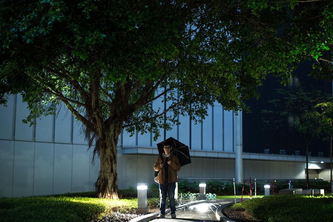 黎汶洛於金鐘添馬公園。攝:盧翊銘/端傳媒