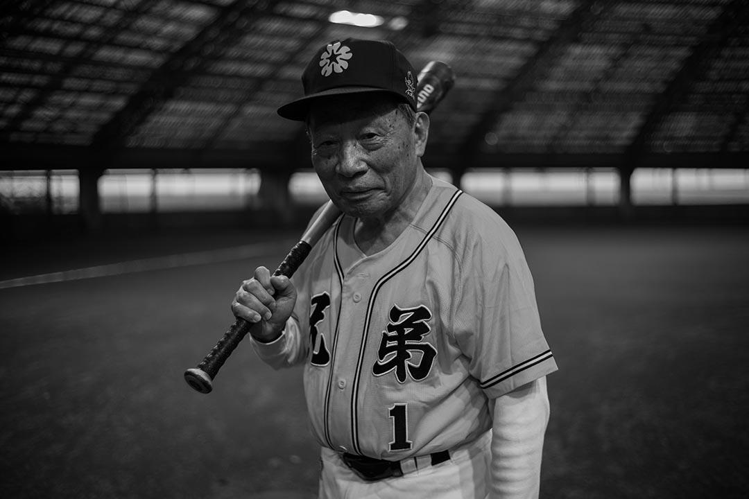 「台灣職棒之父」 與職棒球隊「兄弟象隊」創辦人洪騰勝。攝:Billy H.C. Kwok/端傳媒