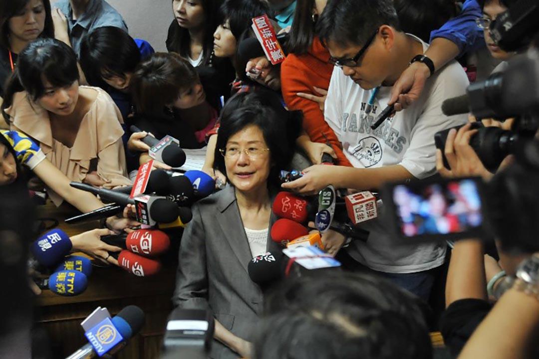 台灣法務部長羅瑩雪。攝 : Mandy Cheng/AFP