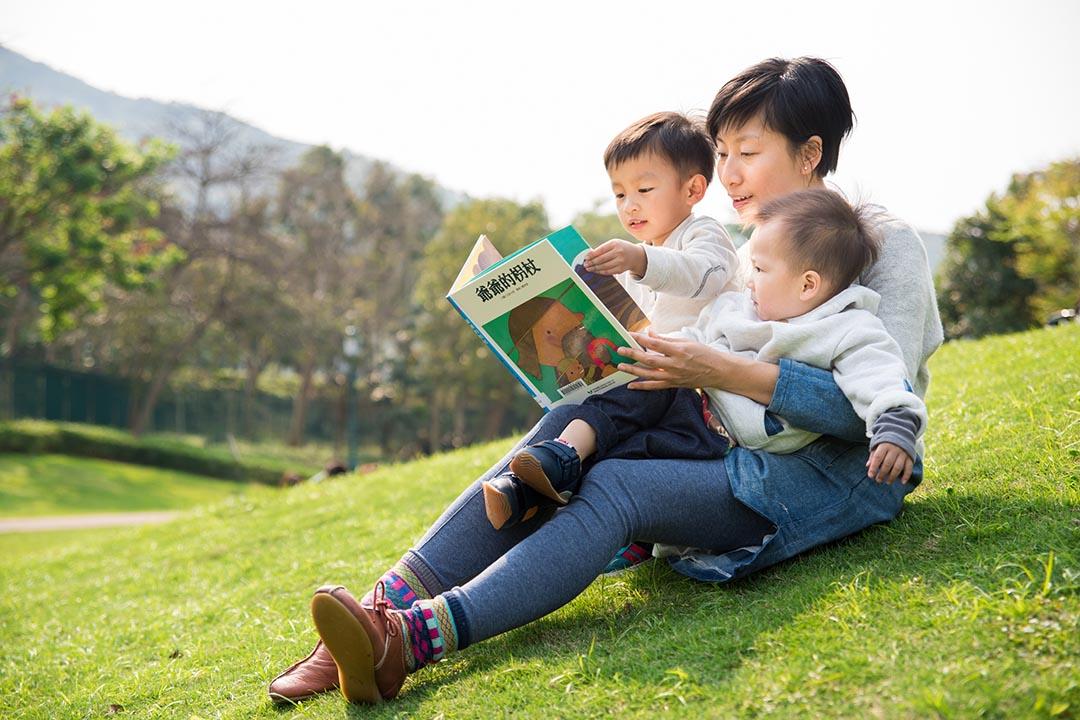 作為兩子之母,張韻珊大大感受到,「食物是給我們身體能量,而閱讀繪本是給孩子的心靈食糧。」受訪者提供