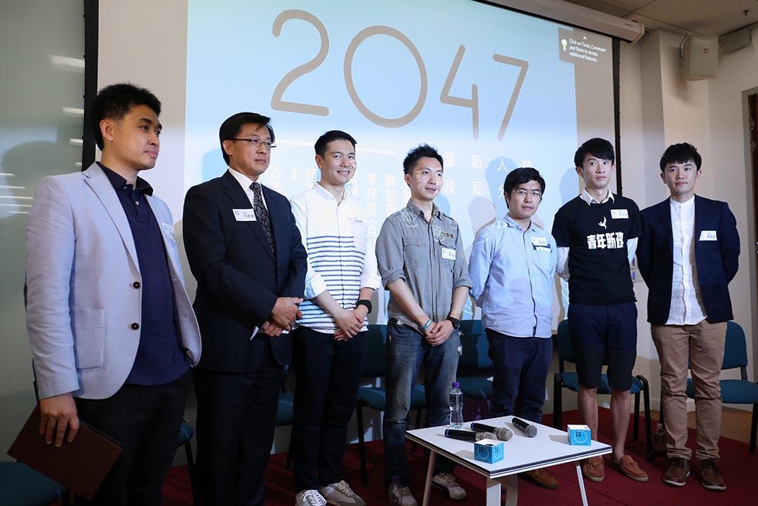 6位嘉賓在學者方志恒主持下,激辯對2047香港前途問題的看法。攝:盧翊銘/端傳媒