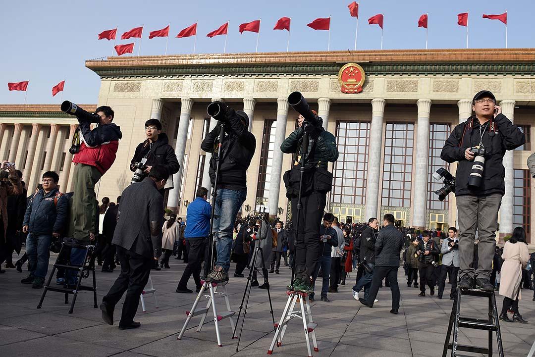 「無國界記者」組織公布2016年世界新聞自由指數顯示,全球新聞自由整體下滑,中國倒數第5。攝:Etienne Oliveau/GETTY