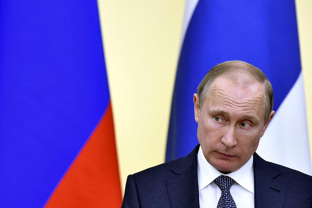 2016年3月22日,俄羅斯莫斯科,總統普京在記者會上發言。攝:Kirill Kudryavtsev/REUTERS