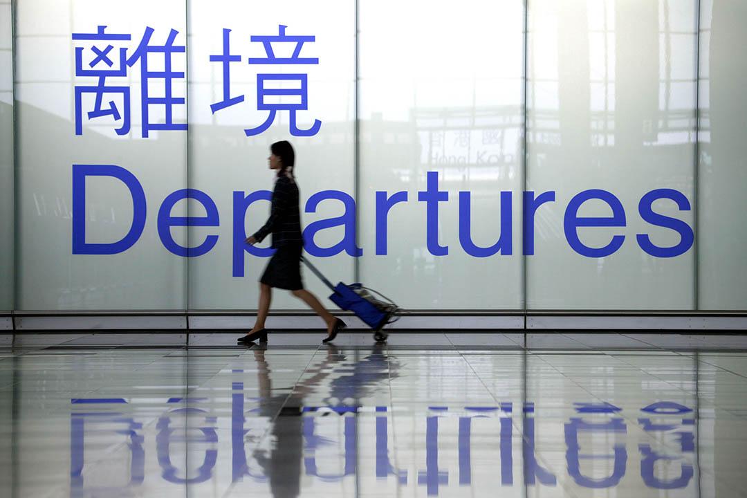 圖為香港國際機場離境大堂。攝:Christian Keenan/Getty