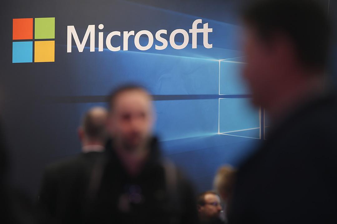 4月11日,微軟歐盟政府事務副總裁 John Frank 發文表態,對飽受爭議的《歐盟-美國隱私護盾》(EU-US Privacy Shield)協議表示支持。攝:Sean Gallup/GETTY
