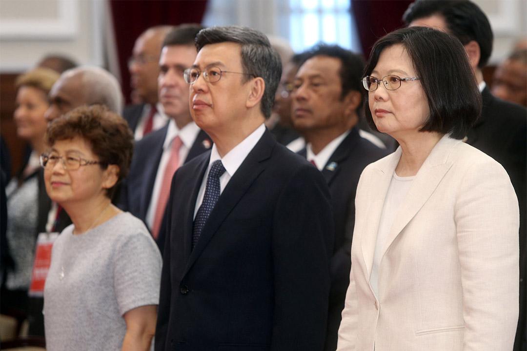 2016年5月20日,台灣新任總統蔡英文與副總統陳建仁出席就職典禮。