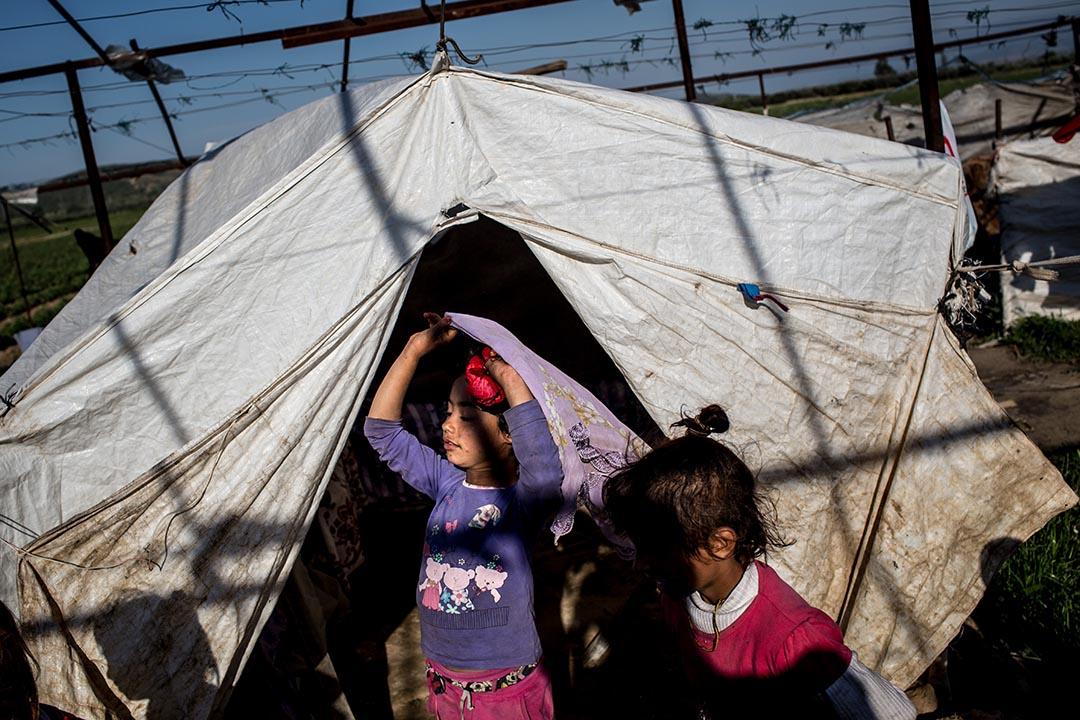 土耳其伊茲密爾(İzmir)郊外的叙利亞難民兒童。攝:Chris McGrath/Getty