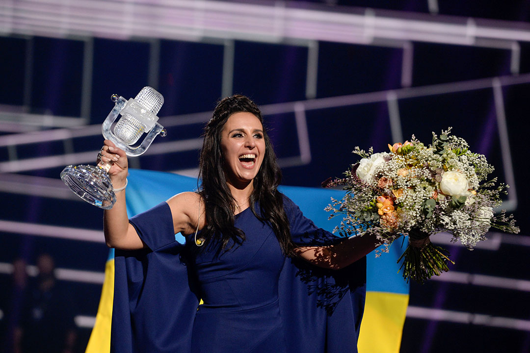 歐洲歌唱大賽由烏克蘭女歌手賈瑪拉(Jamala)贏得冠軍。
