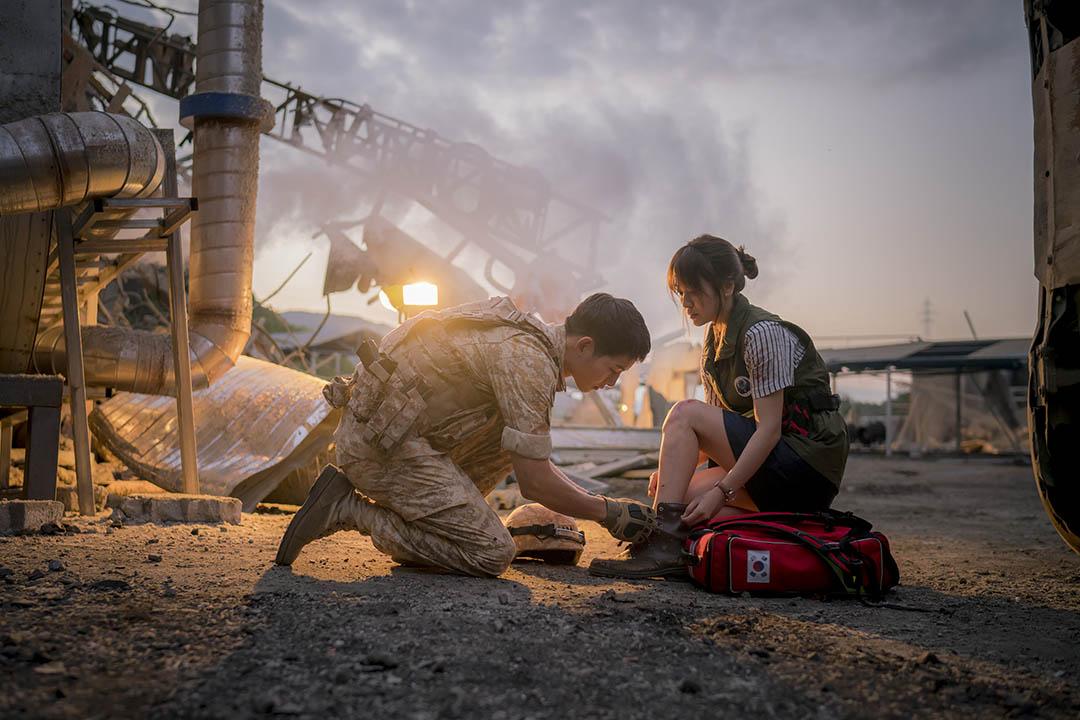 韓國電視劇-太陽的後裔。