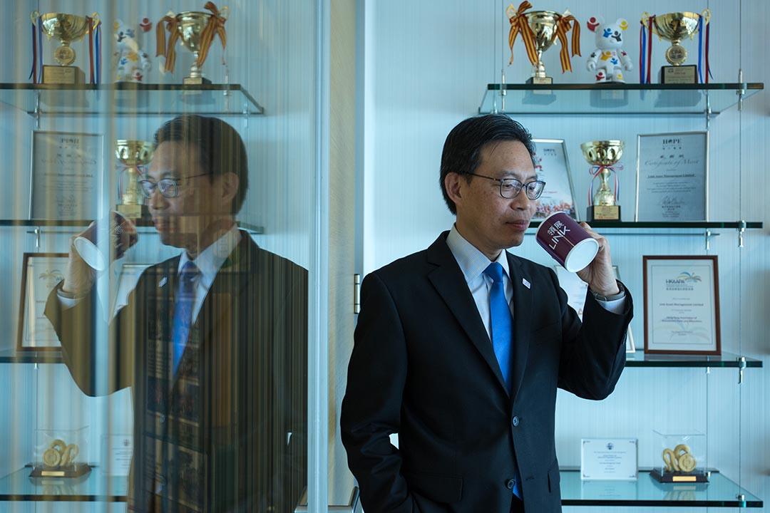 領展財務總監翟迪強。攝:盧翊銘/端傳媒