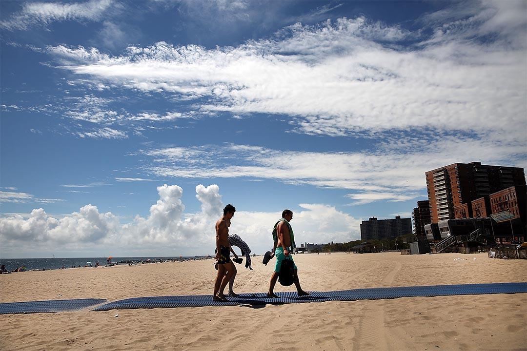 圖為紐約市布魯克林的布萊頓海灘。