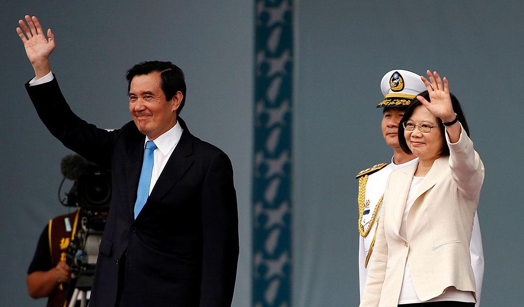 台灣新總統蔡英文和前總統馬英九。