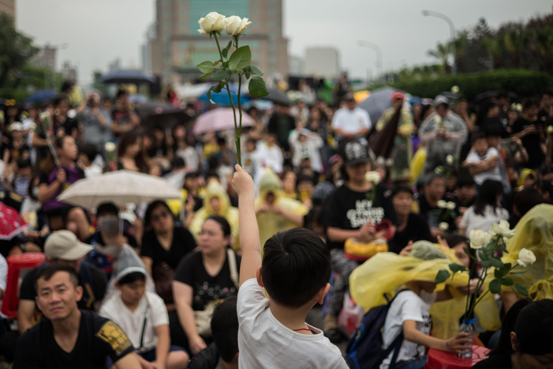 2016年4月10日,台北,反對廢除死刑集會。
