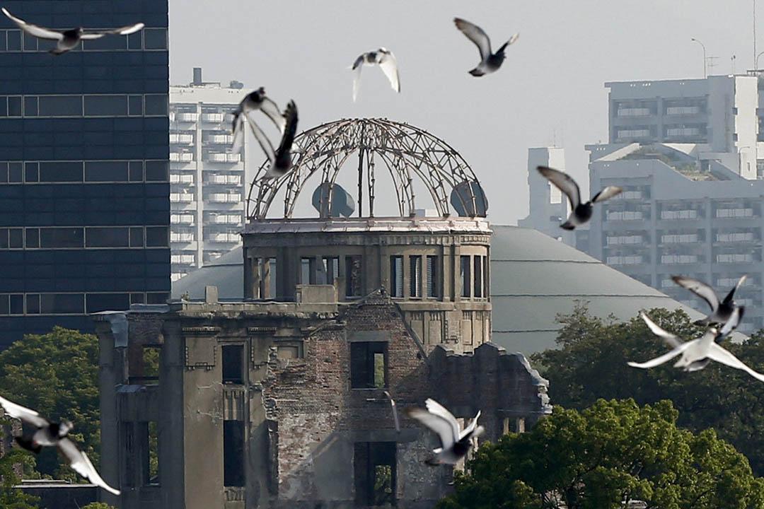 圖為廣島原子彈爆炸遺址建成的廣島和平紀念公園。