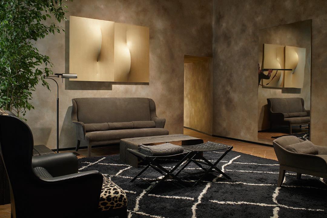 BV的家居設計中仍可見其品牌標誌性intrecciato編織皮革圖案。BV提供圖片