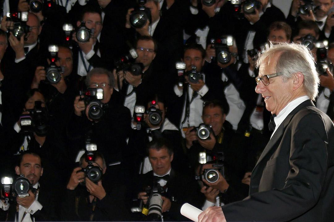 第六十九屆康城電影節,金棕櫚獎得主導演堅•盧治(Ken Loach)在閉幕典禮。