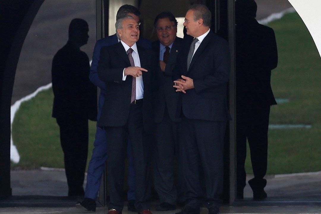 2016年5月10日,巴西副總統米歇爾·特梅爾與巴西參議院議長Renan Calheiros會面。