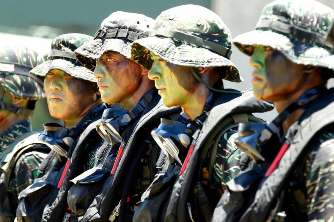 圖為台灣台軍海軍陸戰隊。