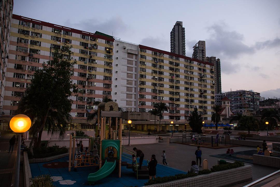 香港深水埗的公營房屋。