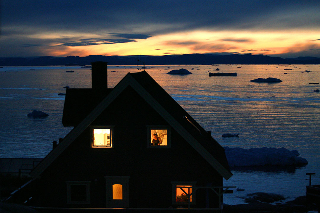 圖為格陵蘭伊盧利薩特集, inuit 人居住的房屋。