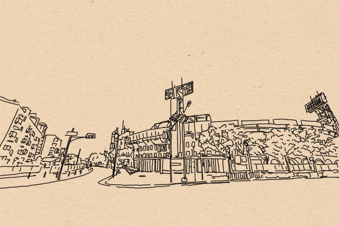甲子園棒球場。