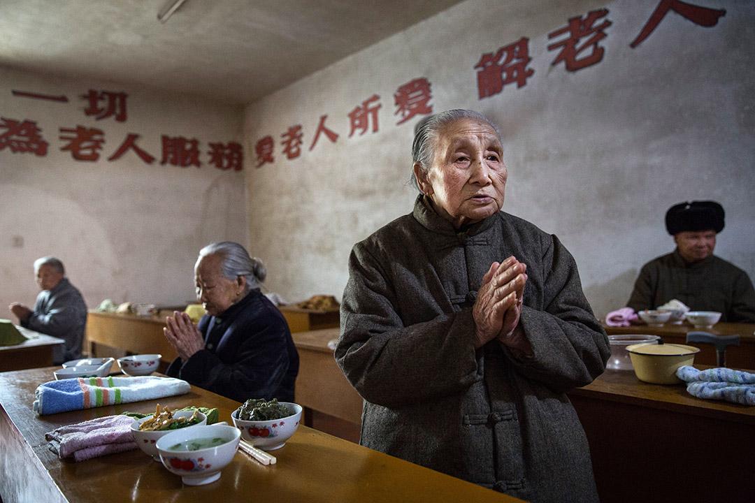 圖為中國福建省一間佛教養老院。